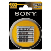 Батарейка Sony New Ultra AAA R03 блистер 4 шт